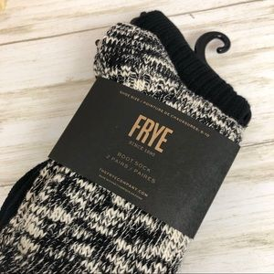 Frye Accessories - Frye Boot Socks Set Two Pairs Ribbed Cotton Blend